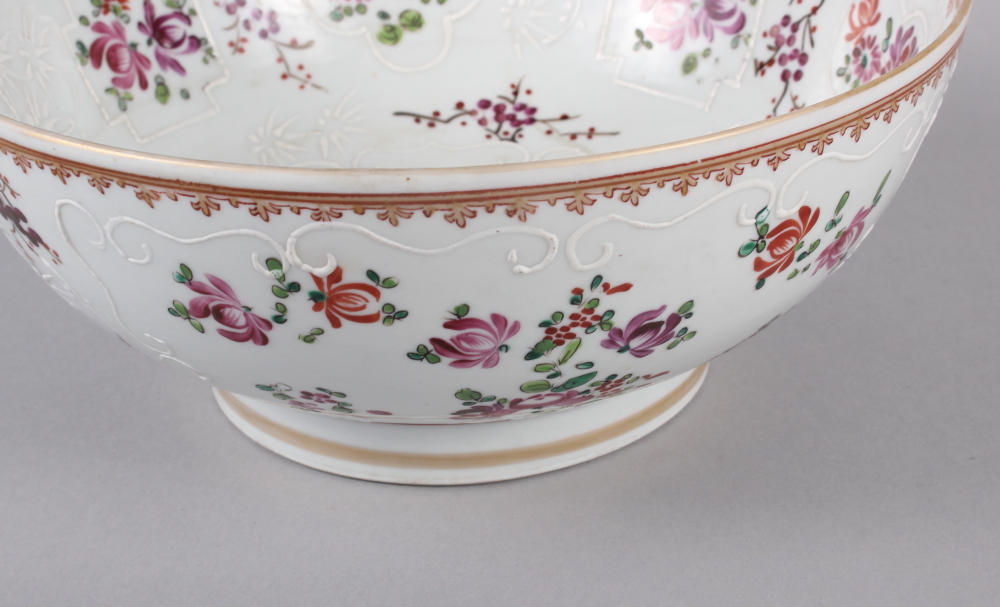 """A Sampson Paris bowl with armorial, floral and gilt decoration, 9"""" dia - Image 3 of 7"""