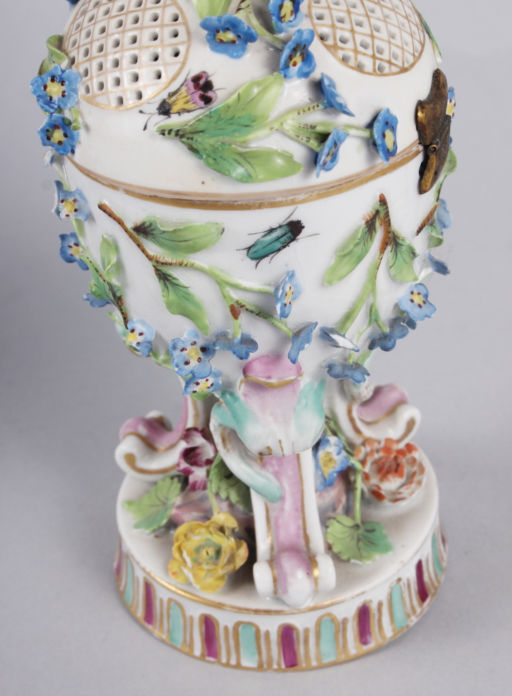 A pair of pot pourri jars with hinged covers and insect and relief floral decoration - Image 25 of 31