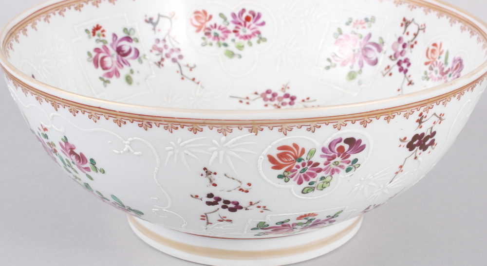 """A Sampson Paris bowl with armorial, floral and gilt decoration, 9"""" dia - Image 2 of 7"""