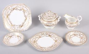 A Spode feldspar bone china and gilt decorated part tea service