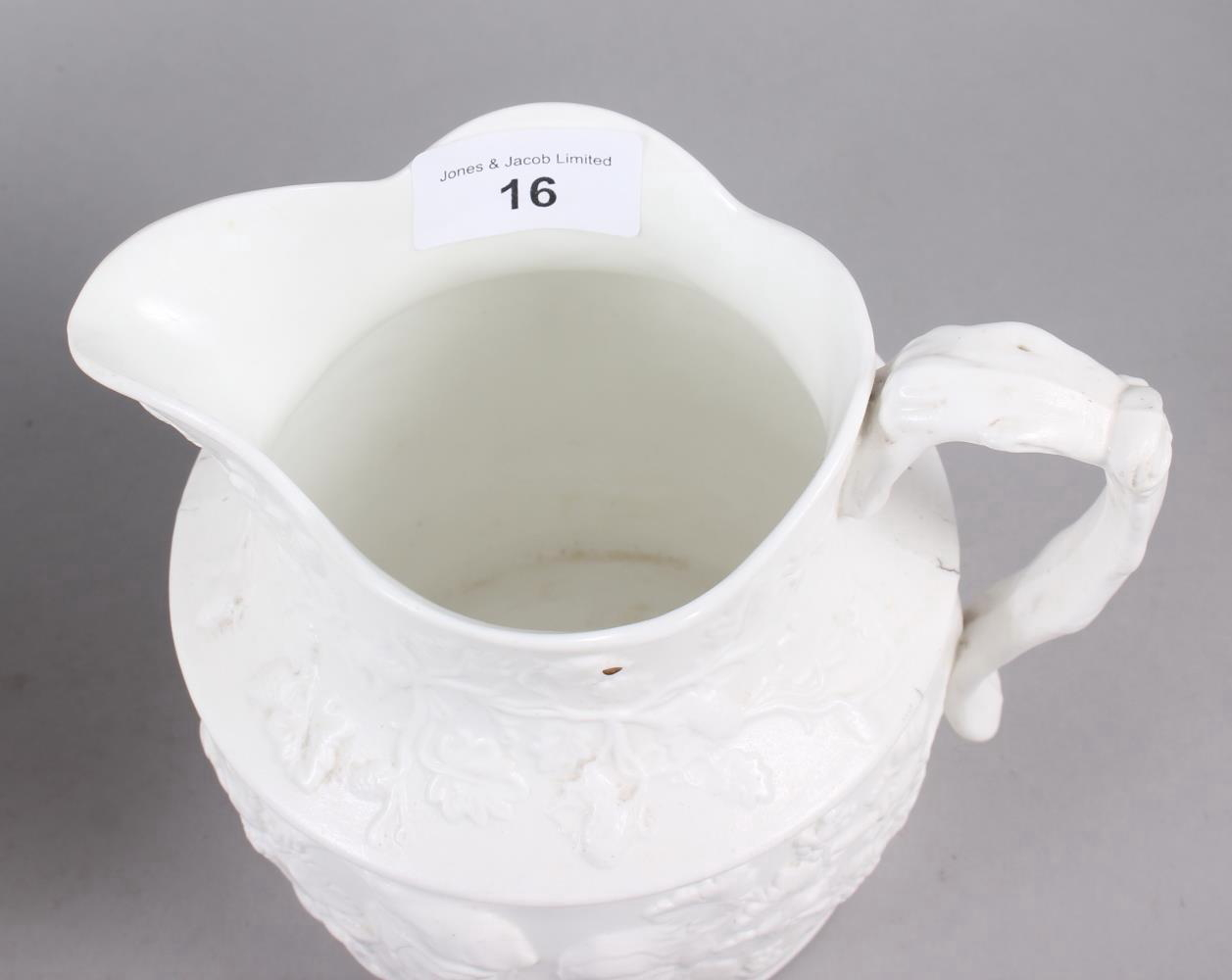 An early 19th century Don Pottery tisaniere and cover with cream stoneware body moulded daisy heads, - Image 2 of 5