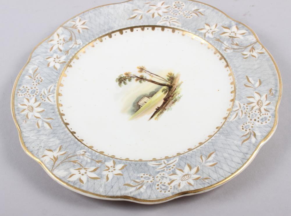 A Rockingham porcelain part dessert service, comprising six plates and two dessert dishes with - Image 17 of 24