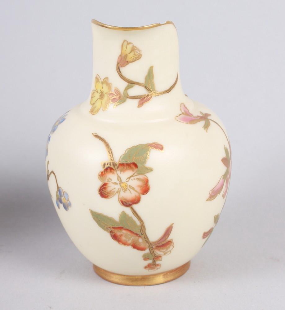 "A pair of Spode relief and floral decorated spill vases, 4 1/4"" high, and a similar spill vase, 4"" - Image 7 of 14"
