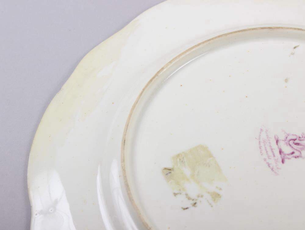 A Rockingham porcelain part dessert service, comprising six plates and two dessert dishes with - Image 4 of 24