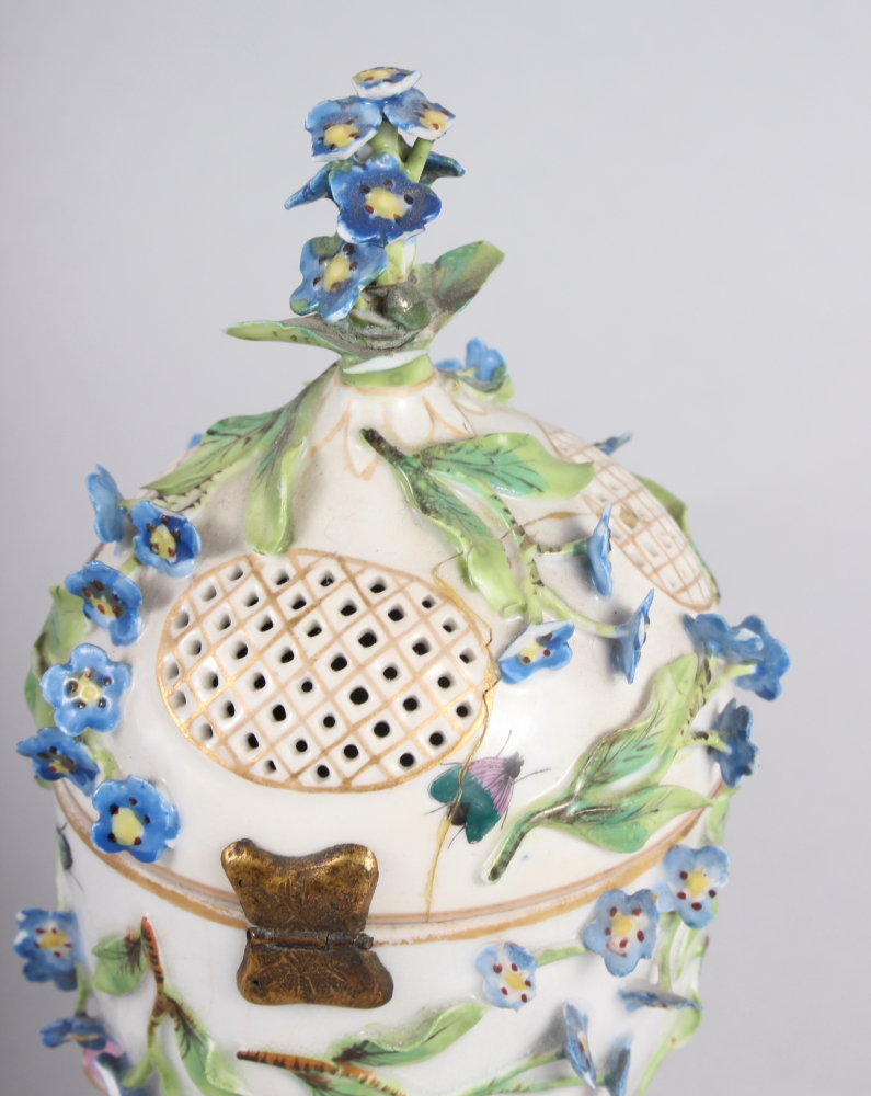 A pair of pot pourri jars with hinged covers and insect and relief floral decoration - Image 26 of 31