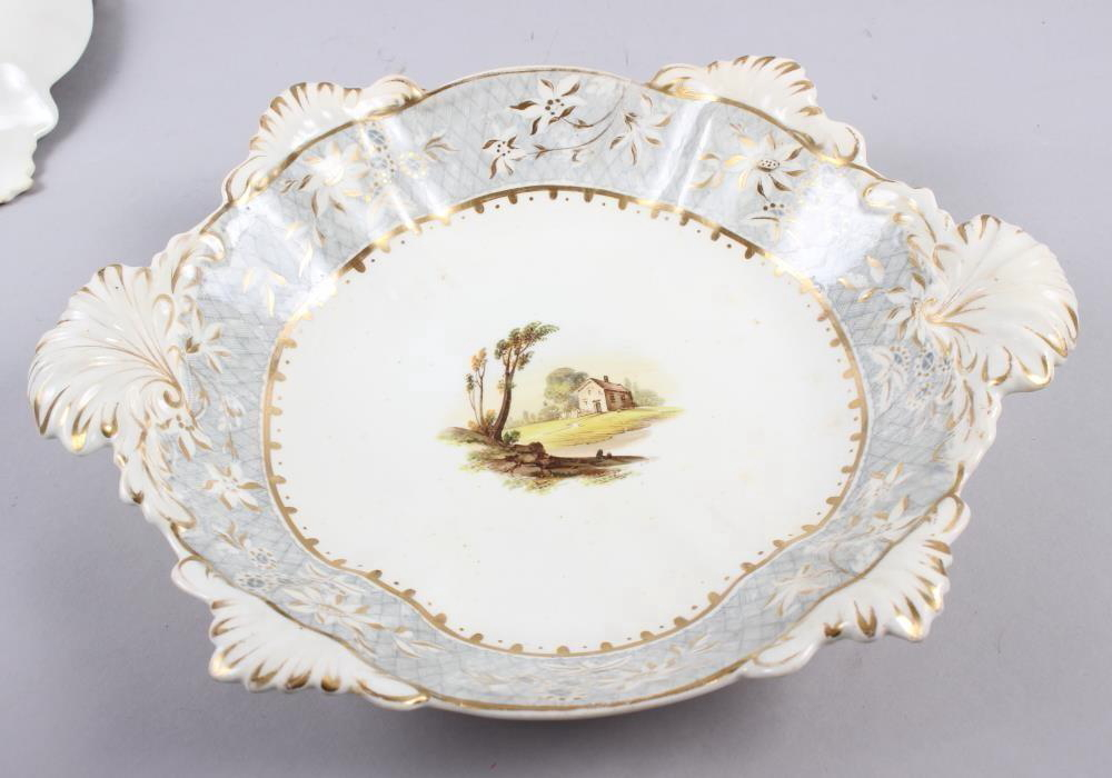 A Rockingham porcelain part dessert service, comprising six plates and two dessert dishes with - Image 23 of 24