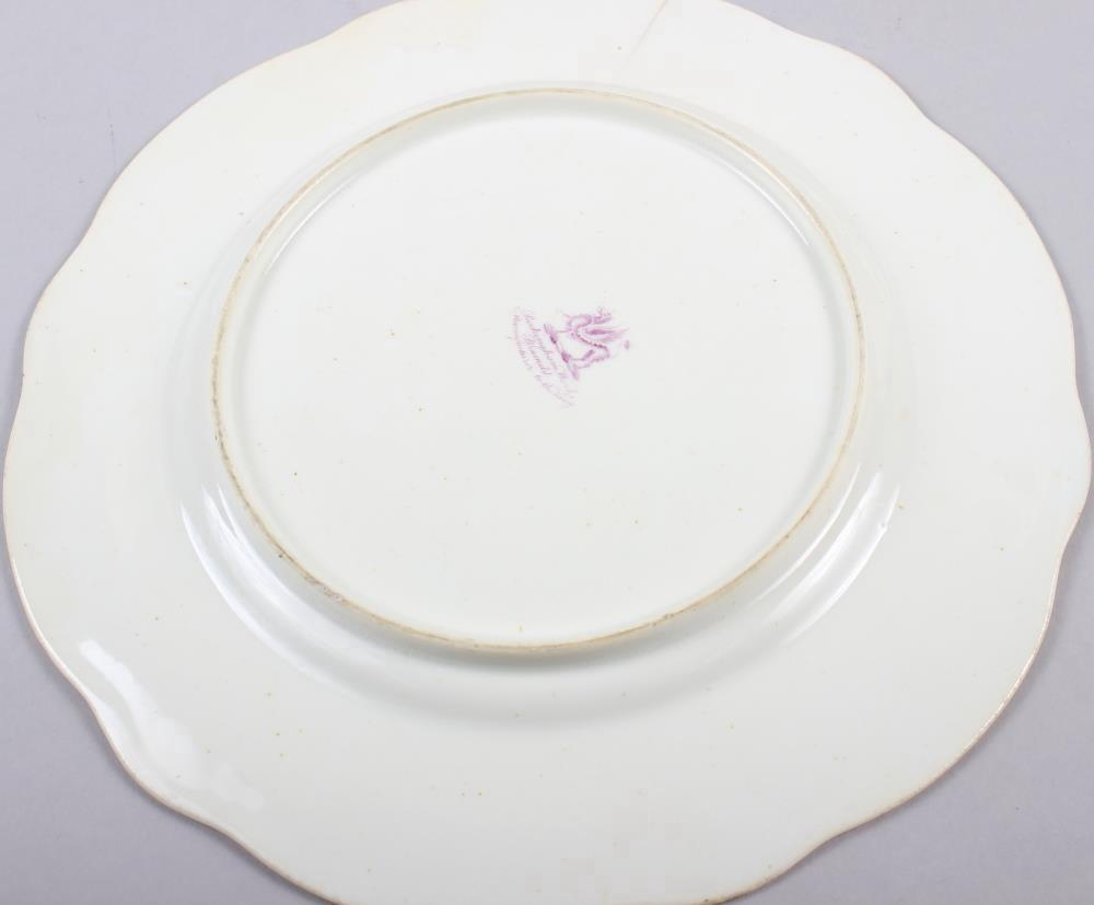 A Rockingham porcelain part dessert service, comprising six plates and two dessert dishes with - Image 6 of 24