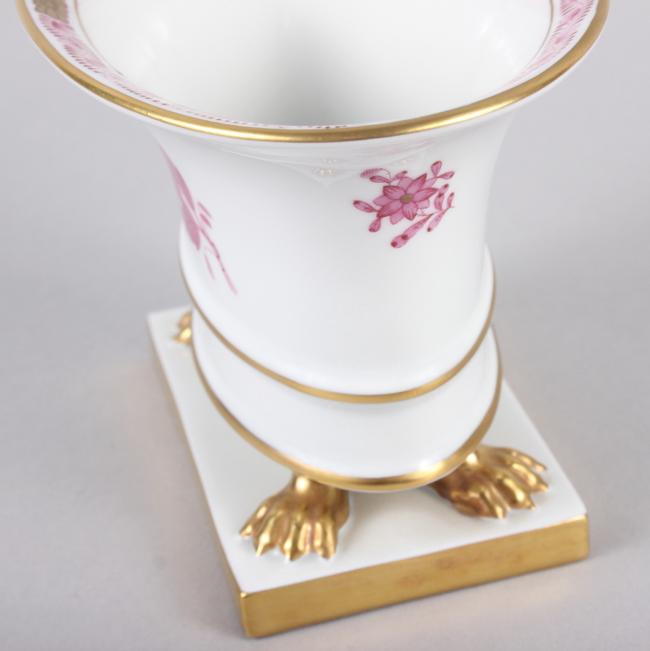 """A Herend menu card holder, formed as a dolphin with gilt decoration, 3"""" high, and a Herend oval bowl - Image 11 of 11"""