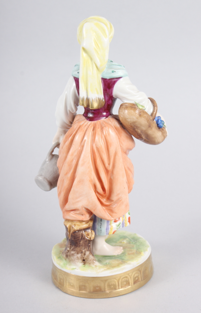 """A pair of Continental figures, flower sellers, 7 1/2"""" high - Image 6 of 7"""
