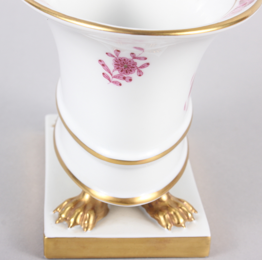 """A Herend menu card holder, formed as a dolphin with gilt decoration, 3"""" high, and a Herend oval bowl - Image 10 of 11"""