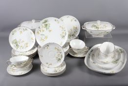 """A Kautheim Selb Bavaria """"Franconia"""" pattern part dinner service, comprising tureens, plates, soup"""