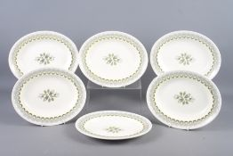 """A set of six Wedgwood Ravilious design """"Harvest Festival"""" oval plates, 10 3/4"""" max dia (one with"""