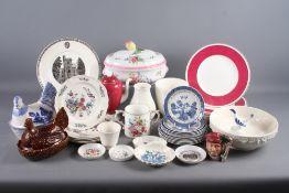 "Nine Wedgwood of Etruria and Barlaston commemorative Girton College Centenary plates, 10 1/2"" dia, a"