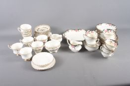 """A Coalport """"Ming Rose"""" pattern part teaset, an Aynsley part teaset and two Royal Albert """"Val D'Or"""""""
