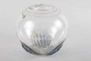 "A studio glass globular vase, signed Bramhall, 10/21/81, 8"" high"