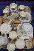 "A Minton ""Rosetta"" pattern part teaset, a Royal Doulton ""Hampton Court"" pattern part coffee set, a"