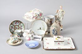 """A selection of ceramics, including Spode """"India Tree"""" pattern coffee cups and saucers, Royal Crown"""