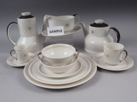 """A Royal Doulton """"Morning Star"""" pattern part combination service, sixty-nine pieces approx"""