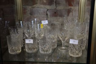 A part suite of drinking glasses