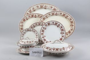 """A Wedgwood & Co """"Ivy"""" part dinner service and awhite and gilt line matched combination service"""
