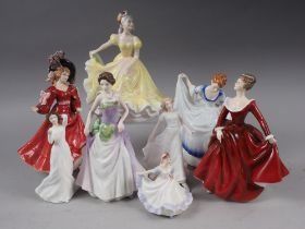 Eight Royal Doulton figures, HN3393, HN3491, HN3215, HN3850, HN3365, HN2379, HN3223, HN3311, some