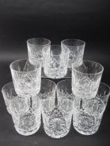 "A set of twelve Waterford ""Lismore"" pattern tumblers"