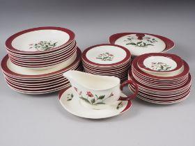 "A Wedgwood & Barlaston ""Mayfield"" pattern part dinner service"