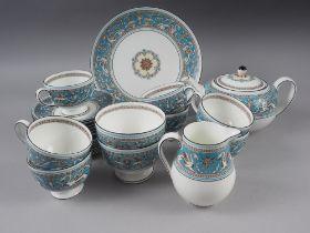 "A Wedgwood ""Florentine"" pattern part teaset, twenty-four pieces approx"