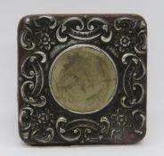 A HM silver photograph frame,