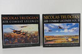 Art books; 'Nicholas Trudgian Air Combat Legends' in two volumes,