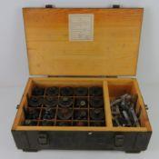 Twenty inert F1 Limonka and RG42 training grenades, in wooden transit case.