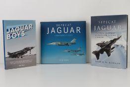 Sepecat Jaguar; three signed books on the Jaguar fighter jet,