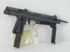 A deactivated PM-63 Polish Sub Machine Gun, with moving trigger.