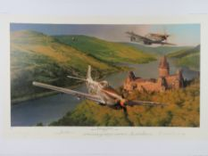 Robert Taylor, two signed limited edition prints, each with cert; 'Hellcat Fury', 14/300,