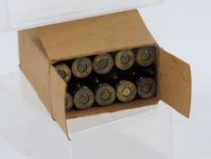 A quantity of inert WWII German unstruck 7.92 rounds in box which matches the rounds inside.