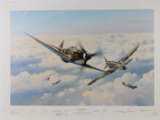 Robert Taylor, two profusely signed limited edition prints,