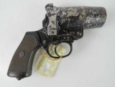 A deactivated Webley & Scott Number 3 MkI flare pistol with EU Cert.