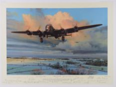 Robert Taylor, profusely signed limited edition print 'Strike and Return', 276/400,