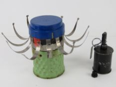 An inert RG42 grenade with fuse together with an inert HB 876 mine.