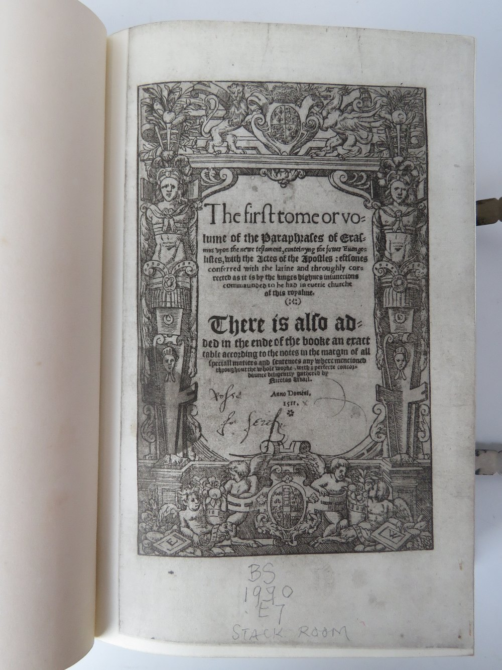 Book; The Paraphrase of Erasmus Upon the - Image 2 of 5