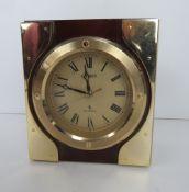 A Citizen mantle clock having brass fitt
