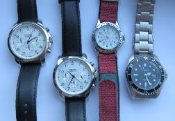 Two stainless steel watches by Knapp, ea