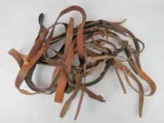 Ten WWII PPSH-41 leather slings.