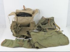 Three DP28 magazines in canvas bag. Toge