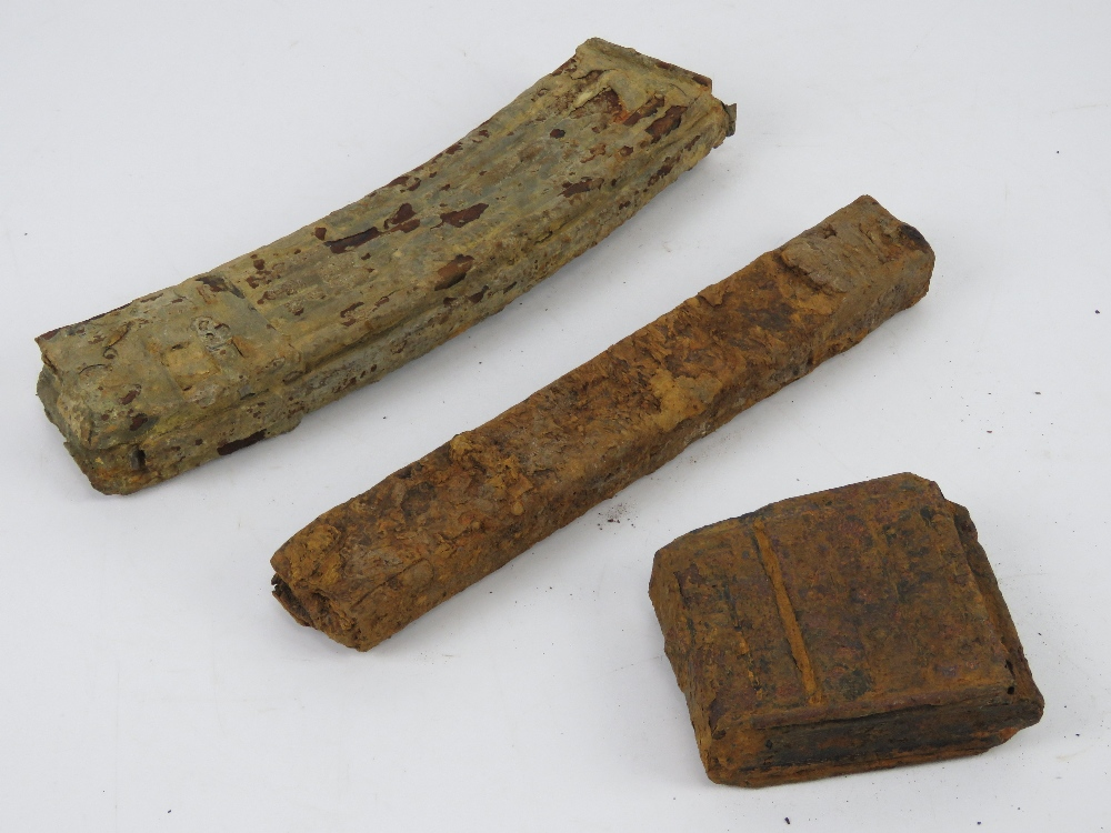 Three relic magazines; MP44, MP38-40 and G43. - Image 2 of 2