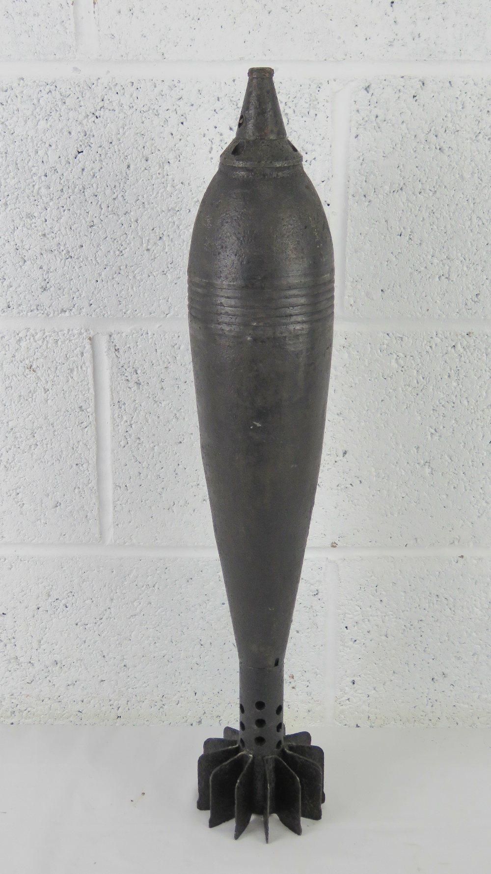 A WWII Russian 107mm inert mortar shell.