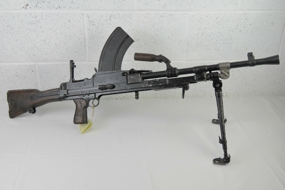 A deactivated Bren MKIII .303 light machine gun.