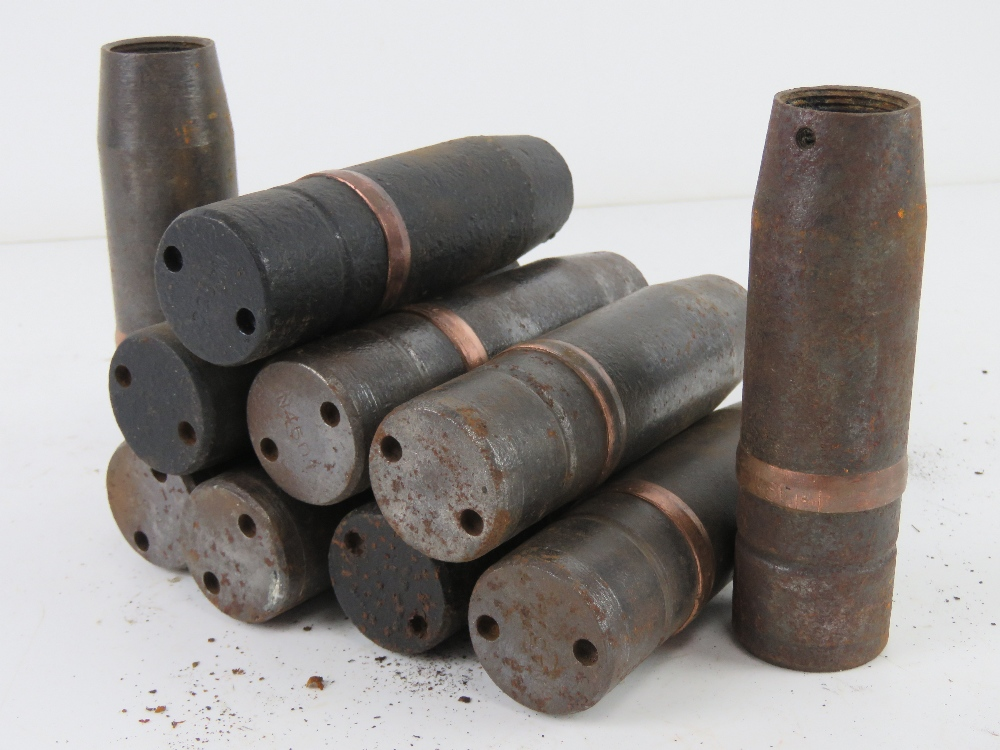 A quantity of ten 37mm Hungarian high explosive rounds dated 1943, - Image 4 of 5