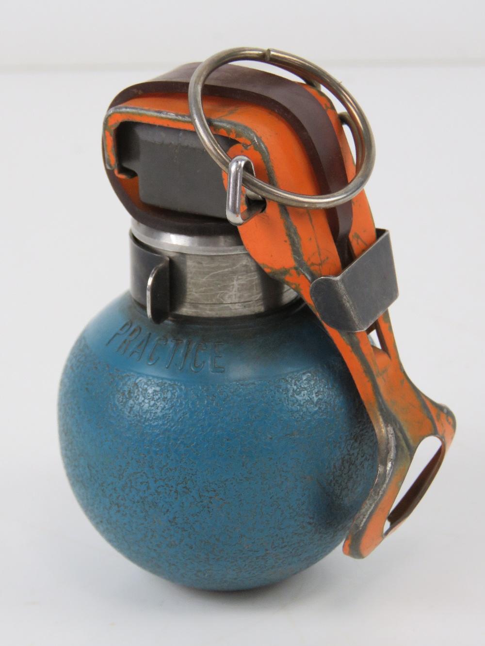 An inert British military L111 A1 B1 practice grenade.