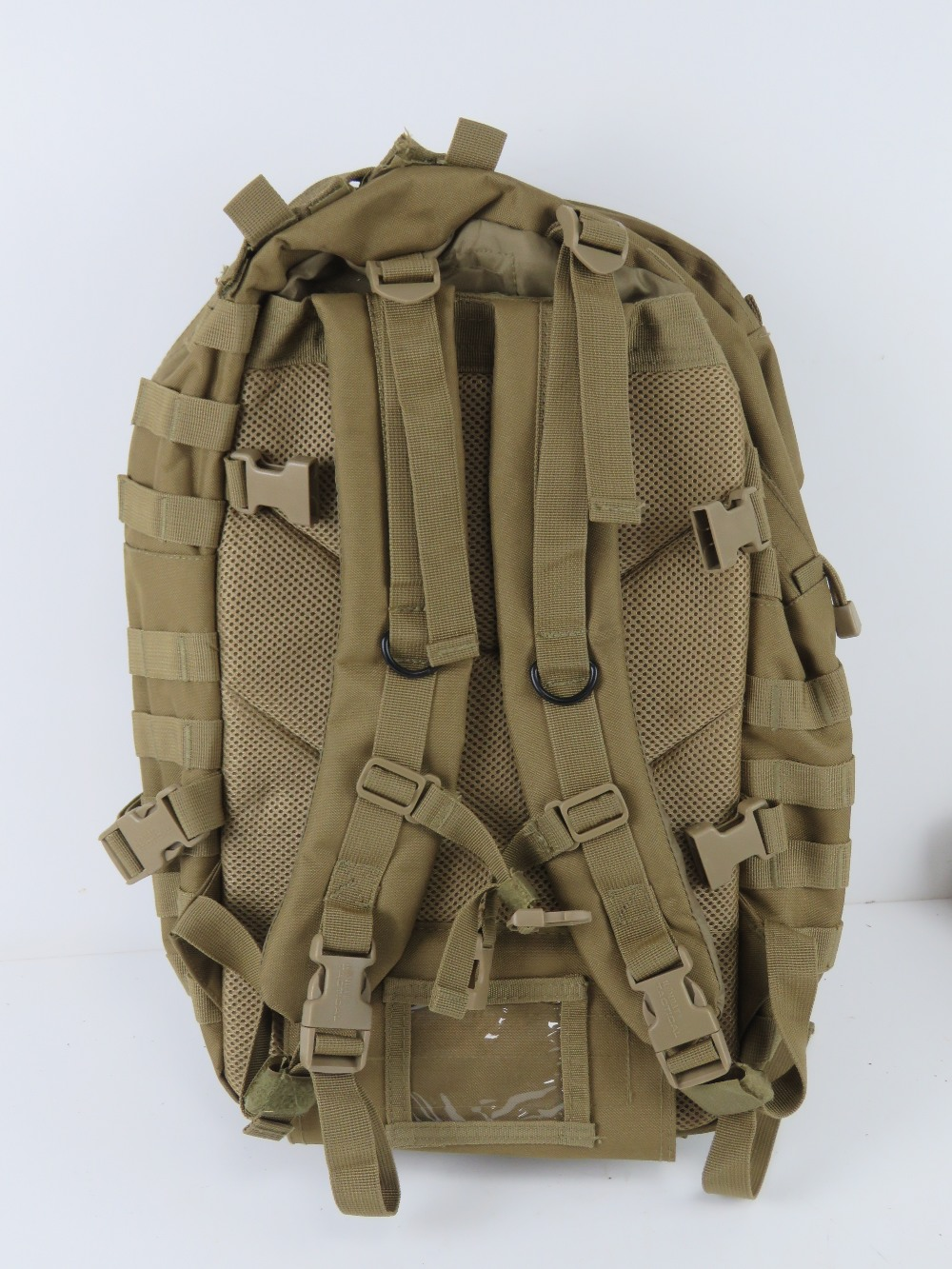 A British Military desert webbing belt with three pouches and water bottle, - Image 4 of 4